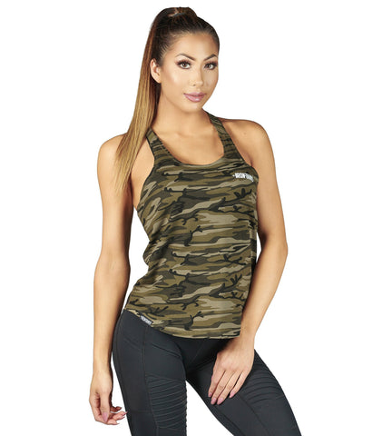 Iron Tanks Womens Element T-back Bodybuilding Singlet - Desert Camo
