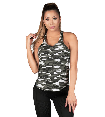Iron Tanks Womens Tanks Element T-back Singlet - Urban Camo