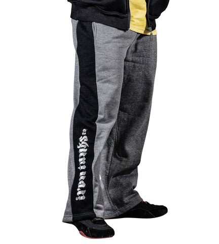 Men's Fleece Tracksuit Pants Grey Bodybuilding Workout | Iron Tanks