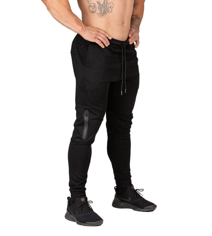 Mens Fusion Gym Pants Black Bodybuilding Workout Training | Iron Tanks