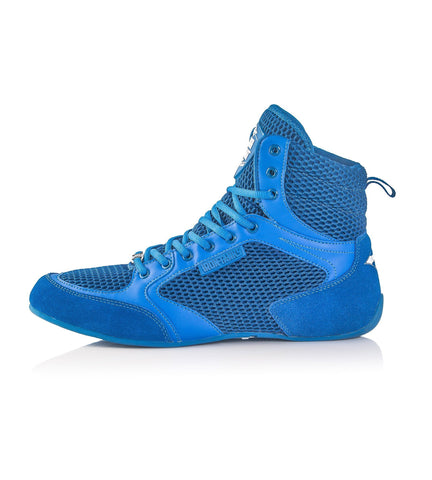 Titan Gym Shoes Blue Deadlift Workout Bodybuilding Flat | Iron Tanks