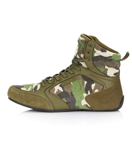 Titan Gym Shoes Camo Weightlifting Bodybuilding Deadlift | Iron Tanks