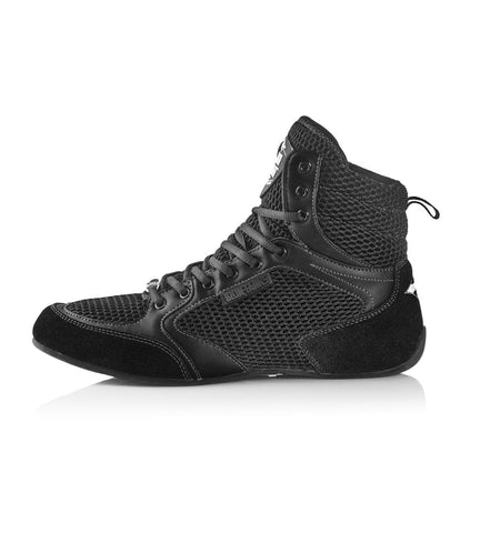 Titan II Gym Shoes Black Bodybuilding Powerlifting Flat | Iron Tanks