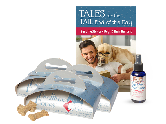 Dog Anxiety Calming Treats and Bedtime Books for Dogs