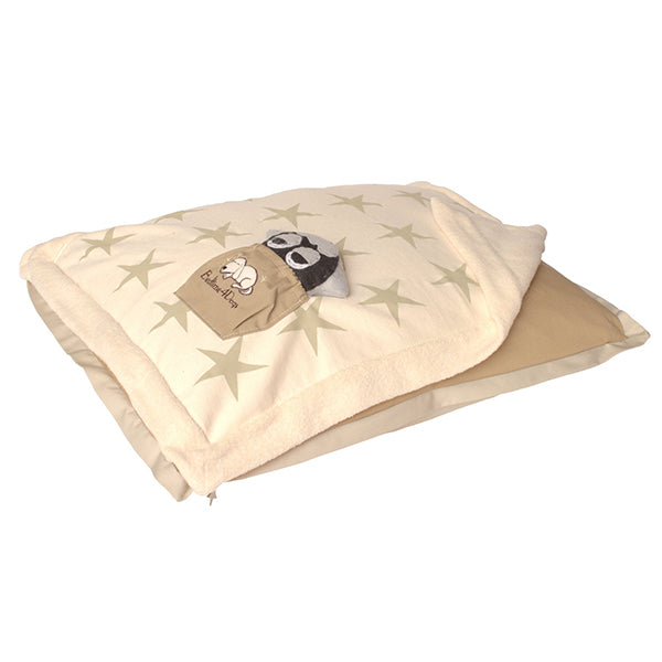 Medium Khaki Canine Coverlet with Zip On Cuddler