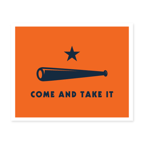POSTER | Come & Take It (Orange)