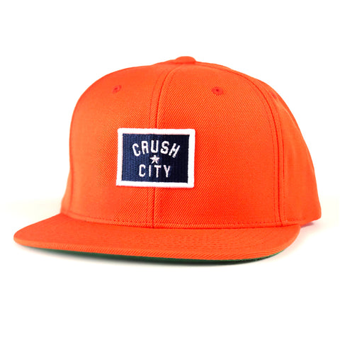 RGC-SnapbackHat-CRUSH-BADGE-ORANGE