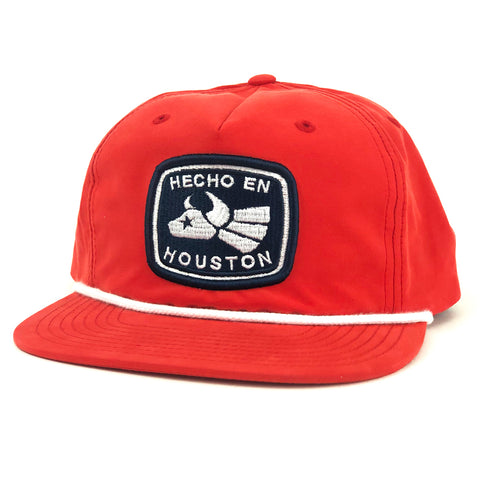 RGC-Made-In-Houston-5-Panel-Golf-Hat-Football-RED-WHITE-Rope