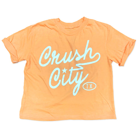 RGC-Womens-aseball-RetroCropTee-Orange-CrushScript-Houston-Baseball