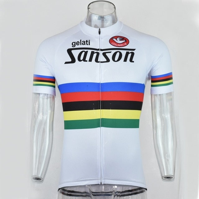 Retro Classical New Mountain Road RACE Team Bike Cycling Jersey Tops Breathable Customized Jiashuo All Chooses 4 Pockets