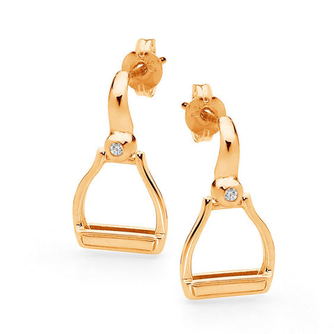 Plain Oxbow Stirrup Earrings