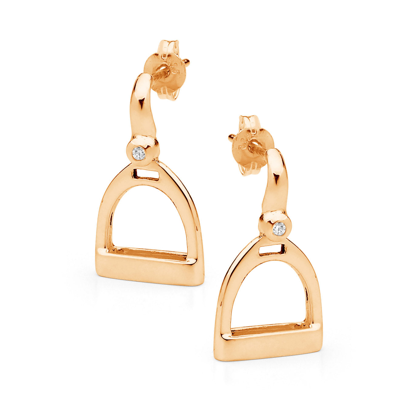 Traditional Plain Stirrup Earrings