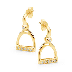 Half Bar and Stirrup Earrings - 9ct Yellow Gold