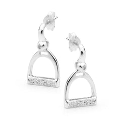 Half Bar and Stirrup Earrings - Sterling Silver