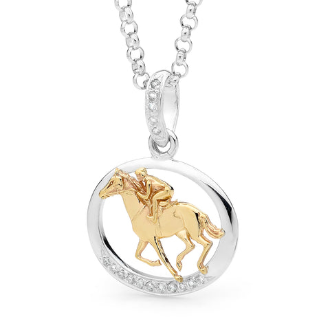 Racing Pendant - 9ct Yellow Gold