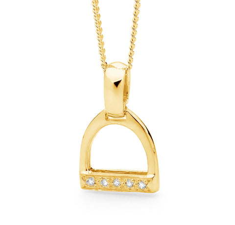 Small Stirrup Pendant - 9ct Yellow Gold