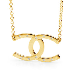 Double Horseshoe Pendant