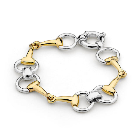 Timeless Gold Bit and Silver Bracelet