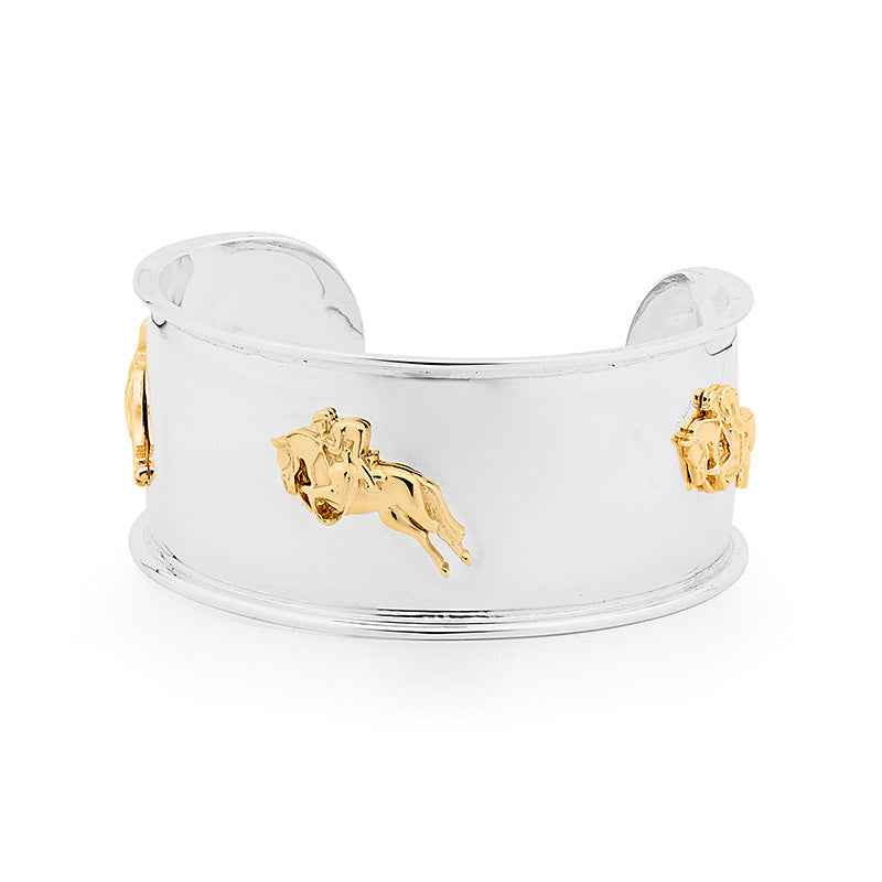 Show Jumper Armlet - 9ct Yellow Gold Accent on Sterling Silver
