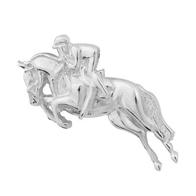 Showjumper Tie Pin - Sterling Silver