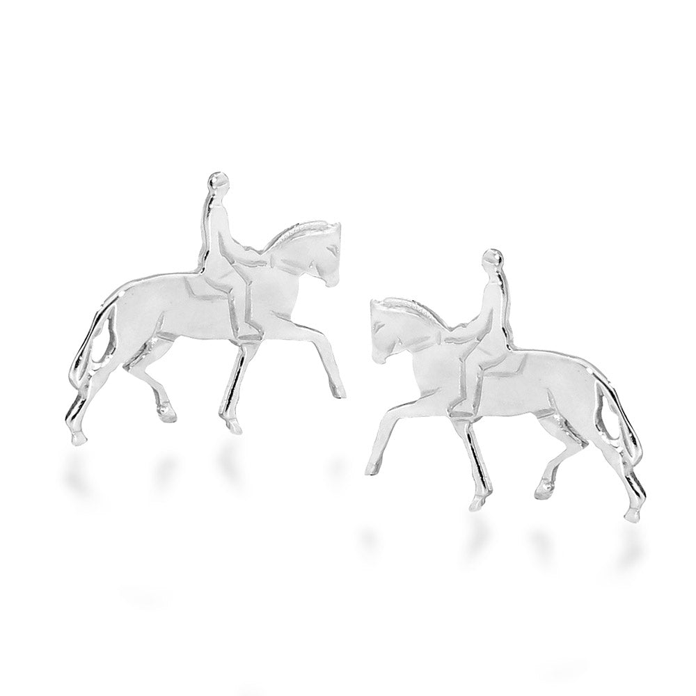 Horse and Rider Stud Earings