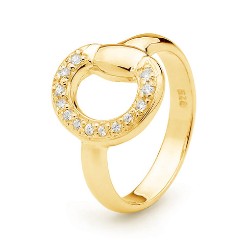 Eggbutt Ring - Gold