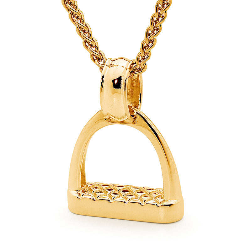 Medium Plain Stirrup - Yellow Gold