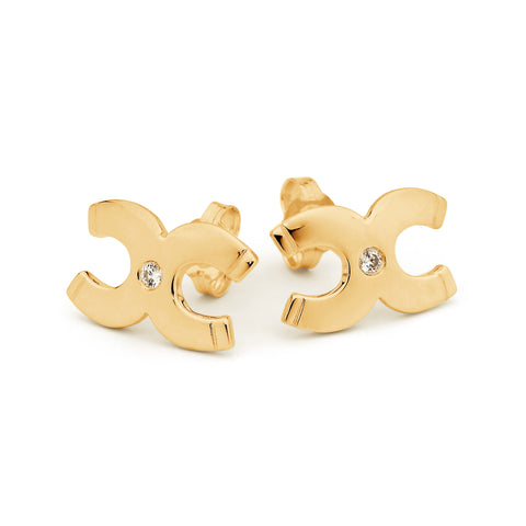 Double Horseshoe Earrings - Medium