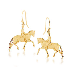 Shepherd Hook Horse and Rider Earrings