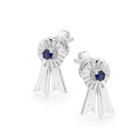 Rosette Earrings - Silver