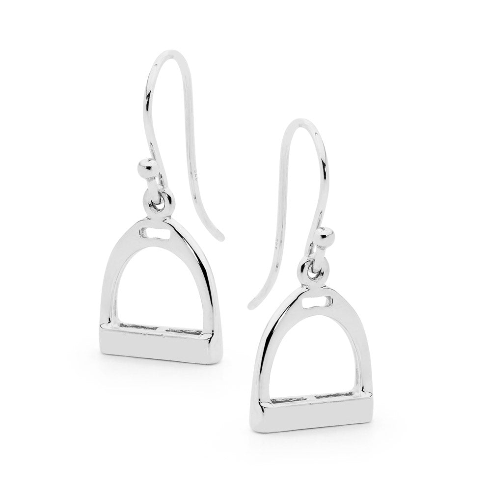 Shepard Hook Plain Stirrup Earings