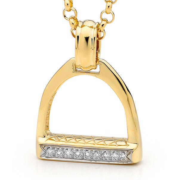 Large Stirrup Pendant - Gold