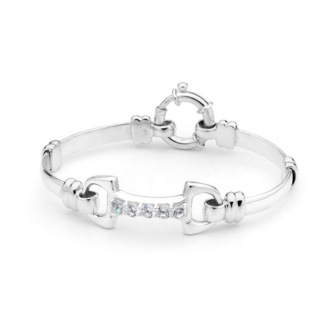 Fitted Straight Bit Bracelet - Sterling Silver