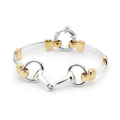 Fitted Snaffle Bit Bracelet - 9ct Yellow Gold