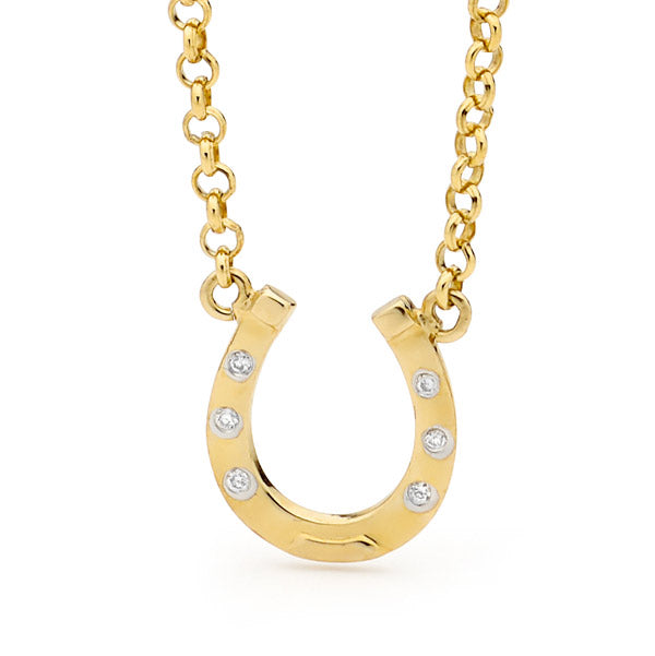 Horseshoe Pendant with Chain