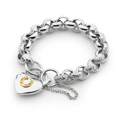 Padlock Horseshoe Bracelet - Medium