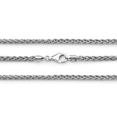 Sterling Silver Large 4mm Wheat Chain