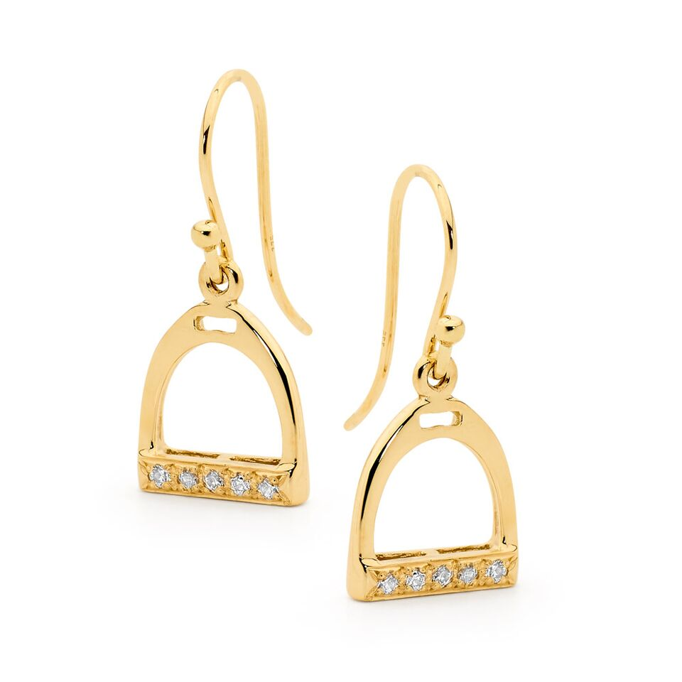 Shepherd Hook Stirrup Earrings