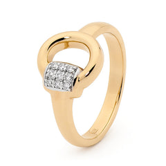 Half Bit Ring - 9ct Yellow Gold
