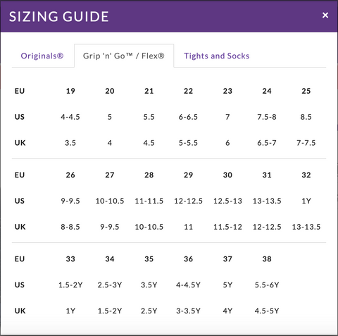 Pediped Size Guide - Shoedini