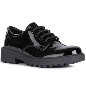 Casey Patent Lace Up