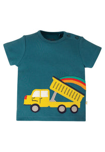 Scout Applique Top, Steely Blue/Truck