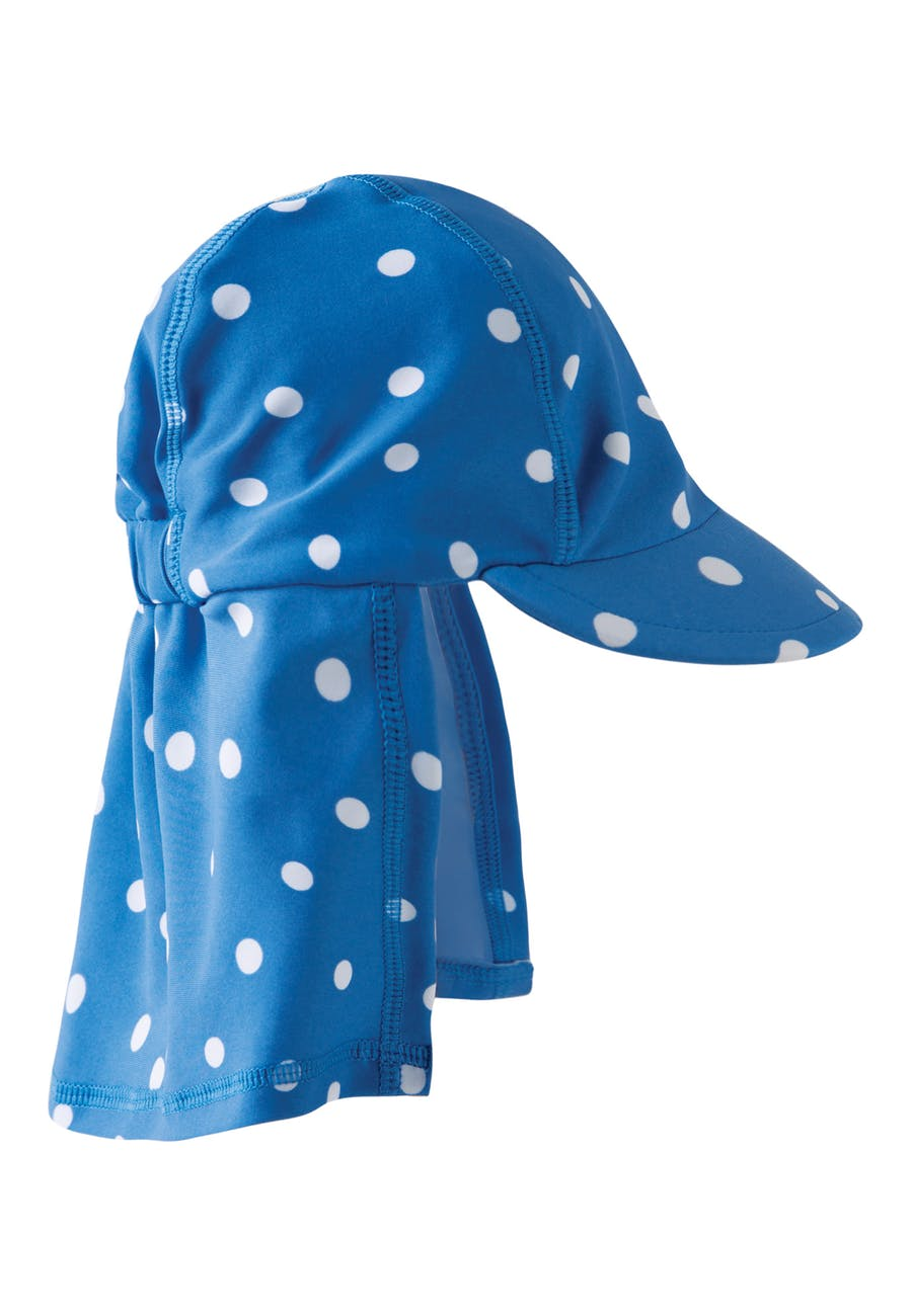 Little Swim Legionnaires Hat - Blue Dot