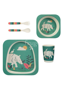 Bamboo Dinner Set, Rhino