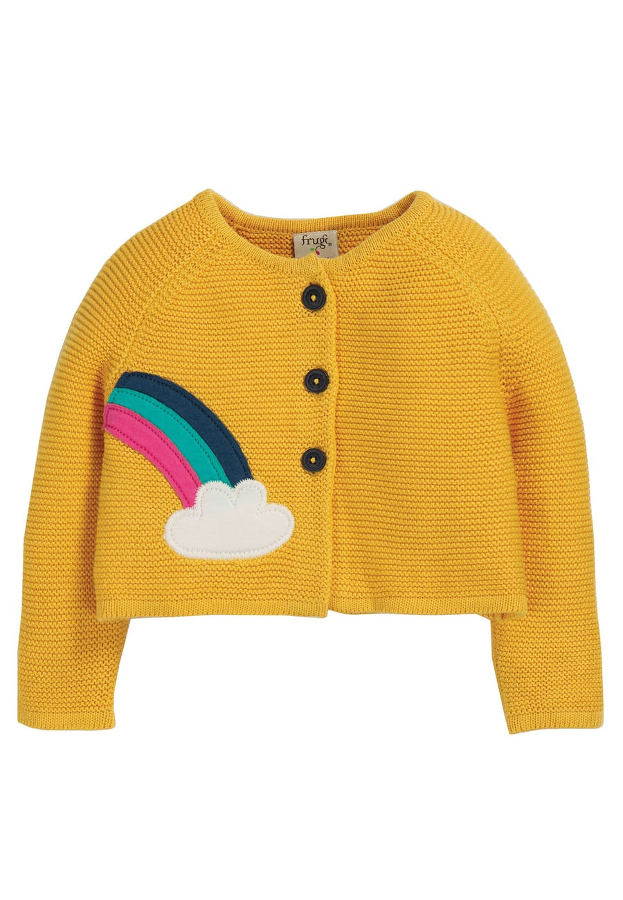 Little Annie Applique Cardigan, Bumble Bee