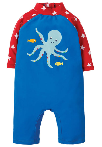 Little Sun Safe Suit - Blue Octopus