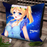 New Ayase Eli - Love Live Anime Dakimakura Square Pillow Cover SPC05 - Anime Dakimakura Pillow Shop | Fast, Free Shipping, Dakimakura Pillow & Cover shop, pillow For sale, Dakimakura Japan Store, Buy Custom Hugging Pillow Cover - 1