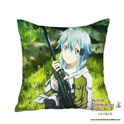 New Sinon - Sword Art Online Anime Dakimakura Square Pillow Cover GZFONG08 - Anime Dakimakura Pillow Shop | Fast, Free Shipping, Dakimakura Pillow & Cover shop, pillow For sale, Dakimakura Japan Store, Buy Custom Hugging Pillow Cover - 1