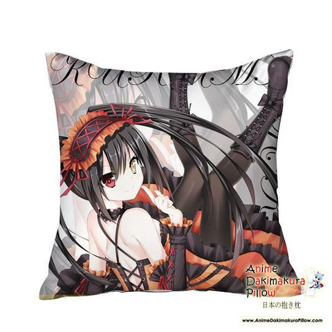 New Kurumi Tokisaki - Date a Live Anime Dakimakura Square Pillow Cover GZFONG09 - Anime Dakimakura Pillow Shop | Fast, Free Shipping, Dakimakura Pillow & Cover shop, pillow For sale, Dakimakura Japan Store, Buy Custom Hugging Pillow Cover - 1