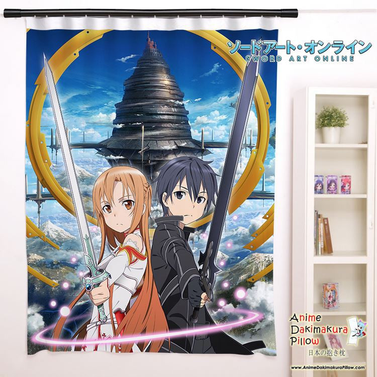 New Sword Art Online Anime Japanese Window Curtain Door Entrance Room Partition H0103